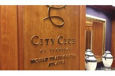 Exclusive club office signage and lettering