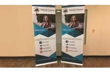 Retractable Banners for DeKalb County Government TV