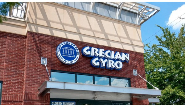 Channel Letters | Grecian Gyro - Midtown Location
