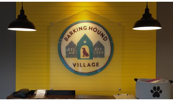 Acrylic Sign | Barking Hound Village | Atlanta, GA