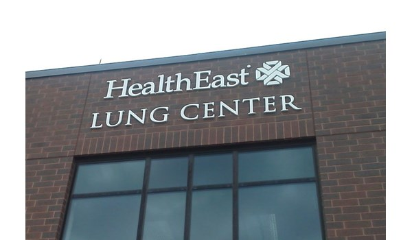 Dimensional Letters for Health East Lung Center in Maplewood, MN