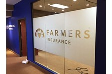 Image360 Woodbury Second Surface Mounted Frosted Vinyl on Glass Office Window for Farmers Insurance in Woodbury, MN