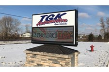 Electronic LED Monument Sign for Automotive Services in Hugo, MN