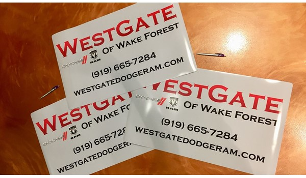 Magnetic Vehicle Signs i360 Raleigh WF