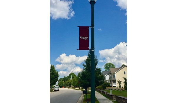Street Pole Banner for Heritage in Wake Forest NC