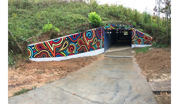 Exterior Concrete Wall Wrap for the Town of Wake Forest NC