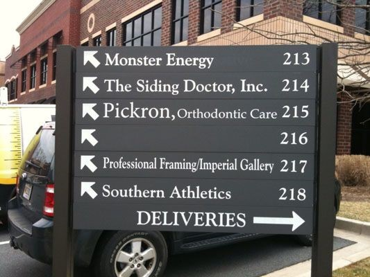 Howard directory and way-finding signage