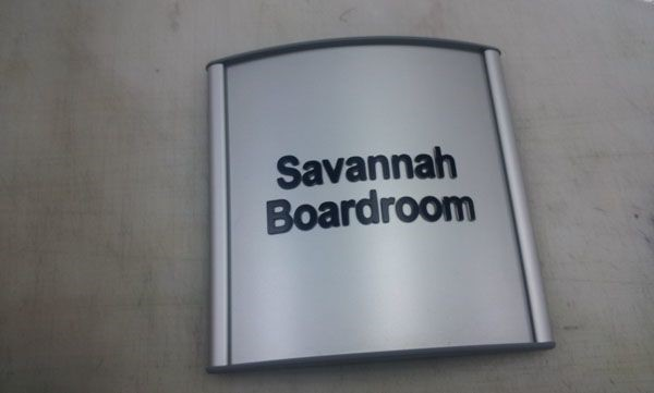 Savannah Boardroom directory and way-finding signage