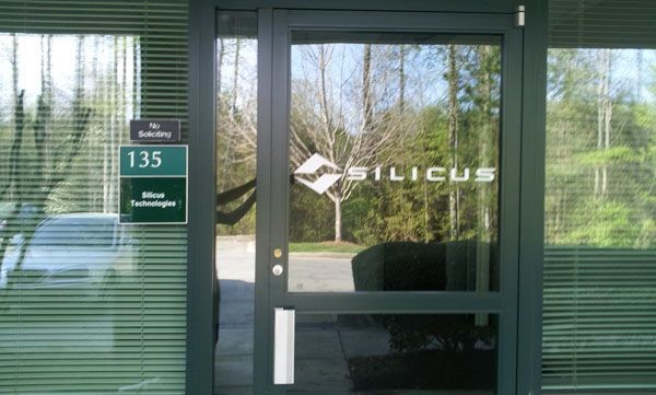 Silicus window graphic in Alpharetta, GA