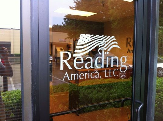 Reading America window graphic in Alpharetta, GA