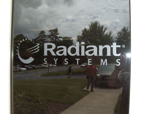 Radiant Systems window graphic in Alpharetta, GA