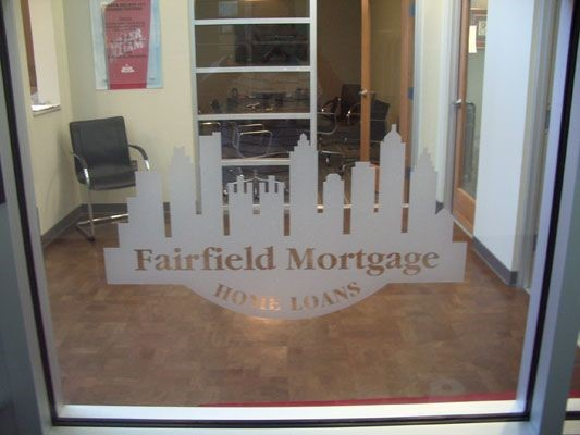Fairfield home loans window graphic in Alpharetta, GA