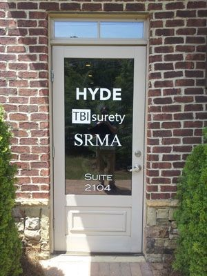 Hyde window graphic in Alpharetta, GA