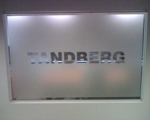Tandberg window graphic in Alpharetta, GA