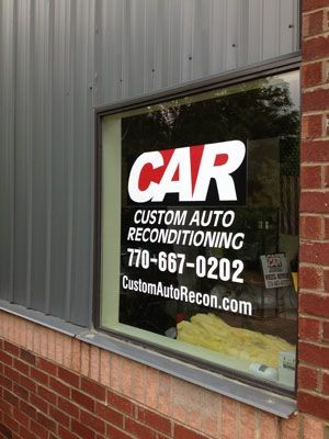 CAR custom auto window graphic in Alpharetta, GA