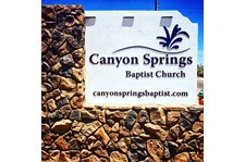 Monument Sign for Canyon Springs Baptist Church in Apache Junction Arizona