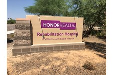 Architectural monument signage Honor Health