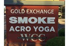 Monument Sign Panel for Acrobody Yoga in Tempe, AZ