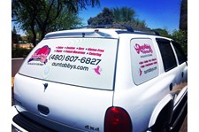 Perforated Window Graphics for Aunt Abbys Confections in Scottsdale Arizona