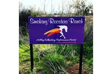 Architectural Post and panel signage Smoking Roosters