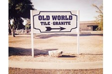 Architectural Post and panel signage Old World Tile and Granite