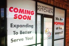 Temporary Window Graphics for My Popcorn Kitchen in Phoenix, AZ