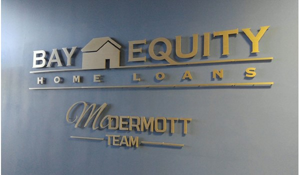 Custom Routed Aluminum Reception Sign