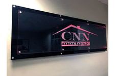 Architectural reception signage CNN Mortgage