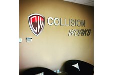 Architectural Reception Sign Collision Works