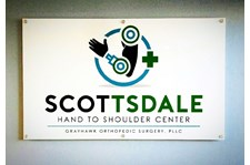 Architectural reception sign for Scottsdale Hand and Shoulder