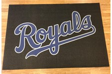 Floor mat signage Kansas City Royals