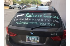 Vehicle Graphics signage Release Canine
