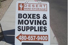 Custom A-Frame Sign for Desert Mini-Storage in Scottsdale, AZ