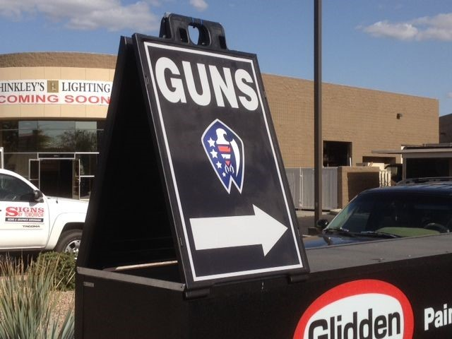 A-Frame Sign for American Spirit Arms in Scottsdale Arizona