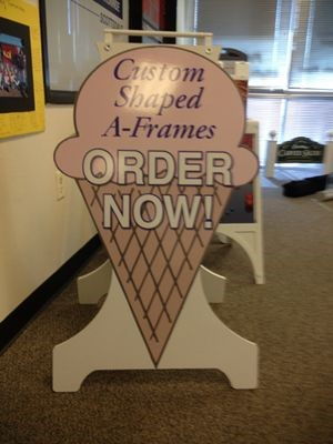 Custom Shape A-Frame Sign