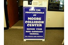 A-Frame Sign for Moore Collision Center in Scottsdale Arizona
