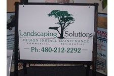 A-Frame Sign for Landscaping Solutions in Scottsdale Arizona