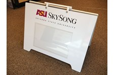 Custom A-Frame Sign with Clear Insert Window for ASU Skysong in Scottsdale Arizona