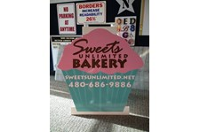 Custom Shape A-Frame Sign for Sweets Unlimited in Scottsdale, AZ