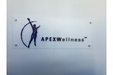 Reception signs for APEX Wellness in San Francisco, CA