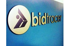 Reception sign for Bid Tracer in Scottsdale Arizona