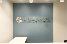 Reception Sign for United Capital in Scottsdale Arizona