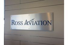 Reception Sign for Ross Aviation in Scottsdale, AZ