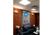 acrylic lobby sign for healthcare rochester ny
