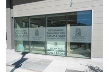 Frosted Vinyl Window Graphics For Property Management rochester ny