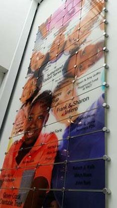 Dimensional acrylic donor recognition plaque for Boys and Girls club in Rochester, NY