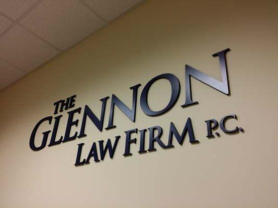 Dimensional Company Name letter sign for attorney in Rochester, NY.