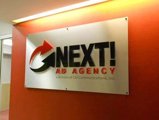 Dimensional Company Name Sign for advertising agency in Rochester, NY