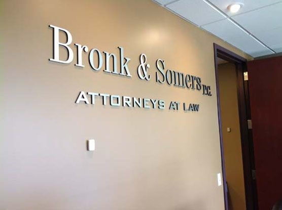 Dimensional Company Name Sign for attorneys in Rochester, NY