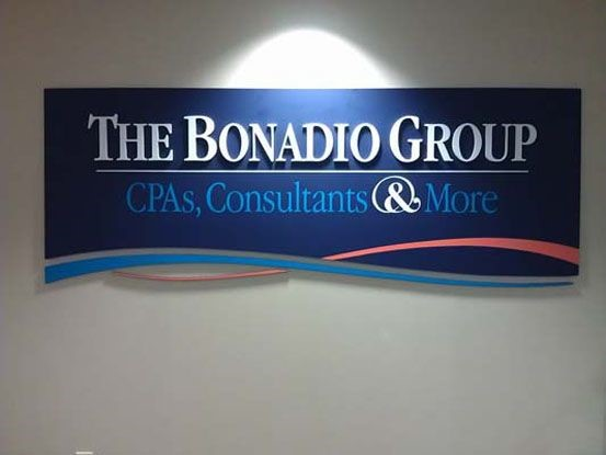 Dimensional Company Name Sign for The Bonadio Group Attorneys in Rochester, NY